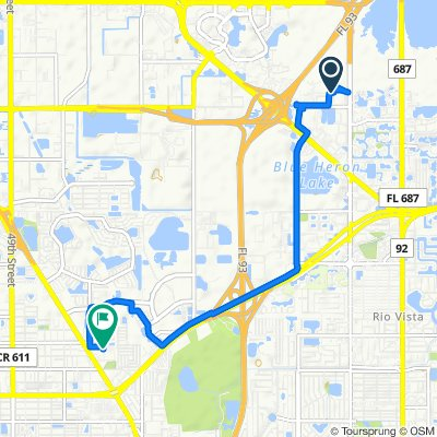 Relaxed route in Pinellas Park