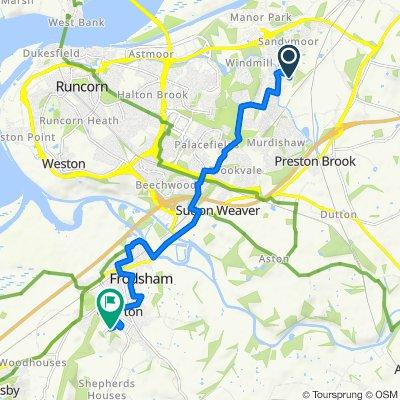 42 Wisbech Close, Runcorn to Mersey View Farm, Bellemonte Road, Frodsham