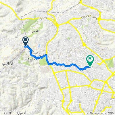 Route to Asma Abu Obadah Street 4, Amman