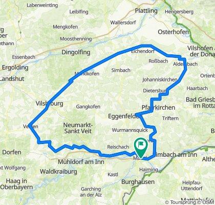 Marktl - Inn und Isen auffi, Vils obi und Rott auffi 215km-1500hm
