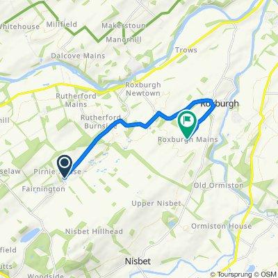Pirnie Hall 3 to Roxburgh Mains Farm Cottages 3