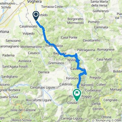 Rivanazzano Terme-Varzi-Capanne di Cosola