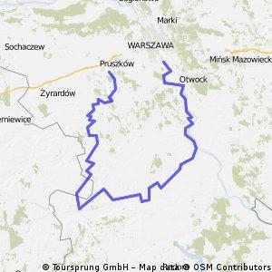 Trasa:Dookoła Mazowsza  czyli Wilanów- Czersk- Pilica-Otrębusy