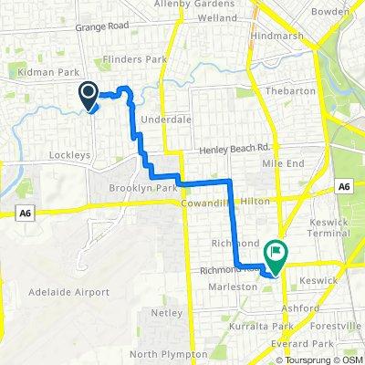 Restful route in Marleston