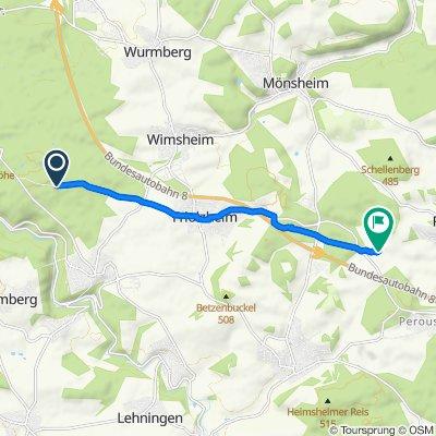 Einfache Fahrt in Friolzheim