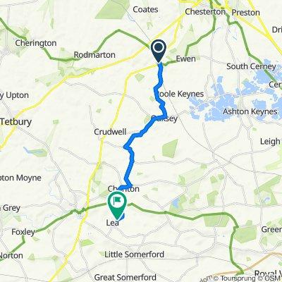 The Hollies, Tamesis Drive, Cirencester to The Street, Malmesbury