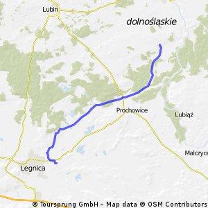 Trasa w okolicy Legnicy