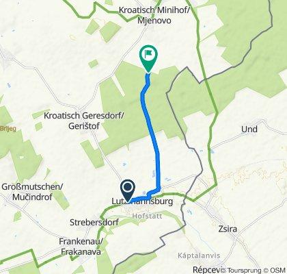 Sportliche Route in Nikitsch