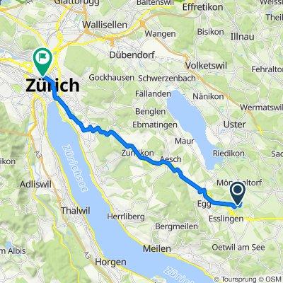 Lieburg 2, Esslingen to Josefstrasse 74, Zürich