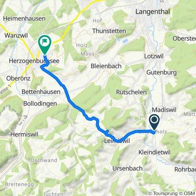 Gerade Fahrt in Herzogenbuchsee