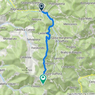 Varzi-Rifugio Pian della Mora-Capanne di Cosola