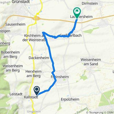 Von Kallstadt nach Laumersheim