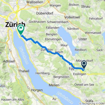 Lieburg 2, Esslingen to Höschgasse 74, Zürich