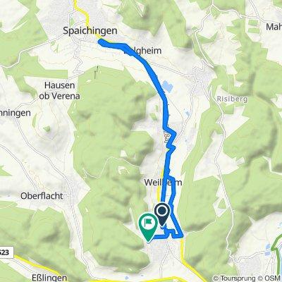 Einfache Fahrt in Wurmlingen