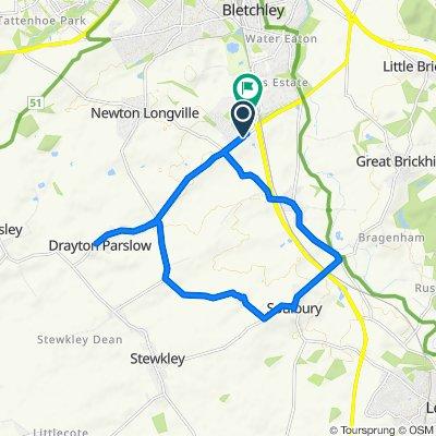 Chadwell Farm, Drayton Road, Milton Keynes to 21 Saint Helena Avenue, Milton Keynes