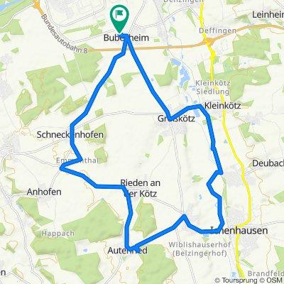 Leipheimer Straße 16, Bubesheim to Leipheimer Straße 16A, Bubesheim