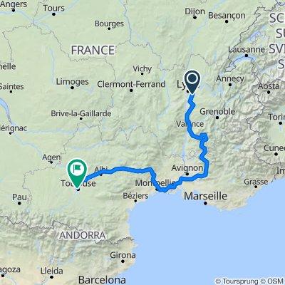 Lyon-Montpellier-Toulouse