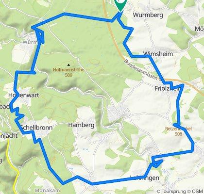 Gemütliche Route in Wurmberg