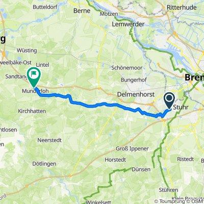 Stuhr Holzwelt-Hatten Stern Winterg. 29 km