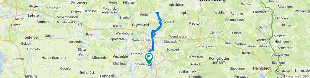 Gemütliche Route in Braunschweig