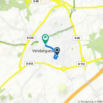 Itinéraire facile en Vendargues