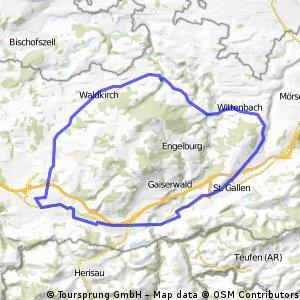Gossau, St. Gallen, Wittenbach, Bernhardzell, Waldkirch, Arnegg, Gossau