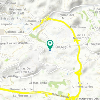De Estación de buses La Esperanza, Tegucigalpa a Estación de buses La Esperanza, Tegucigalpa