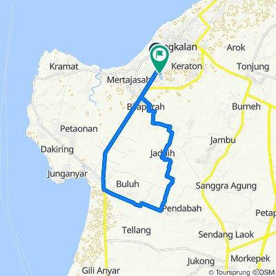 Jalan Teuku Umar Gang II No.24B, Kecamatan Bangkalan to Unnamed Road, Kecamatan Bangkalan