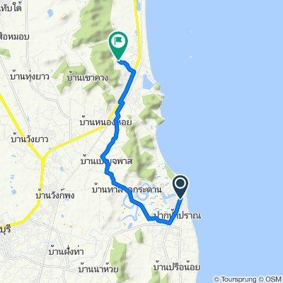 Route from 3168, Pran Buri