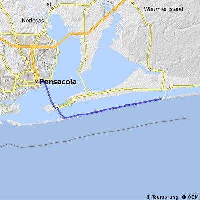 Navarre Towers to Pensacola via Gulf Blvd.