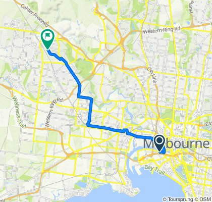 High-speed route in Keilor Downs