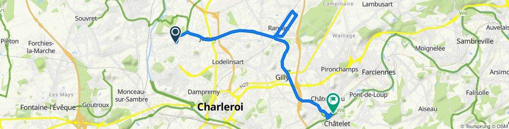 Itinéraire modéré en Châtelet