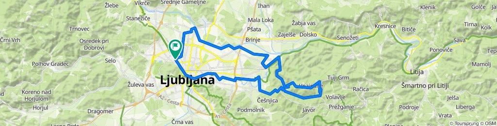 Korona - znotraj občine Ljubljana