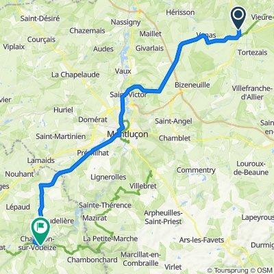 Etape 04 - Cosne d'Allier à Chambon sur Voueize - 60,1km 570D+