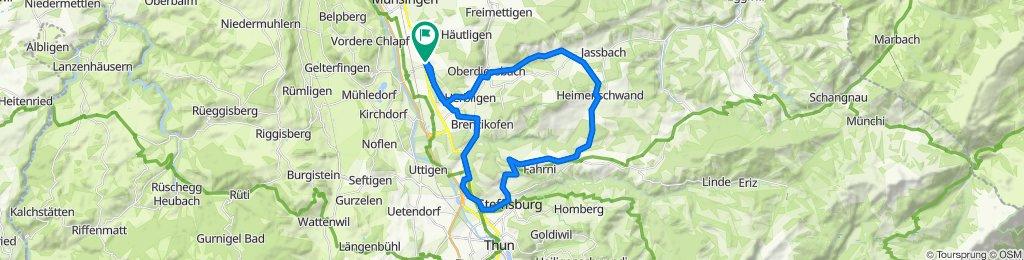 Wrach-Linden-Heimenschwand-Lueg-Steffisburg-Brenzikofen-Wrach, 38km