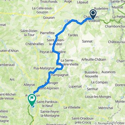 Etape 05 - Chambon sur Voueize à Felletin - 55km 640D+
