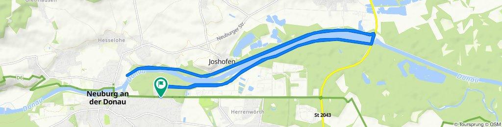 Sportliche Route in Neuburg an der Donau