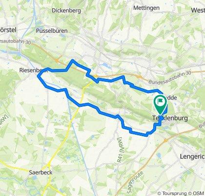Gerade Fahrt in Tecklenburg
