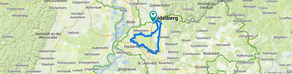 Heidelberg  Walldorf -Hockenheim - Oftersheim - Heidelberg