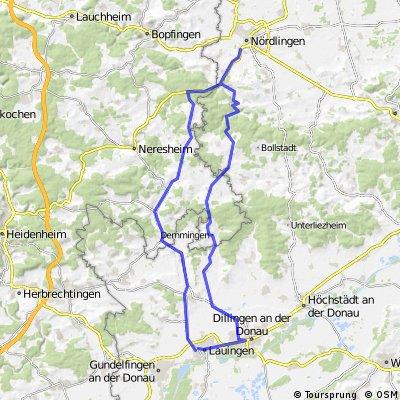 Fernfahrt Lauingen - Nördlingen