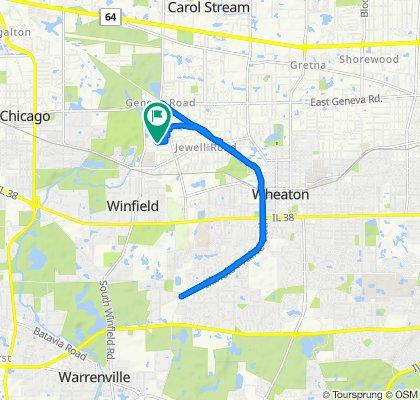 Restful route in Winfield