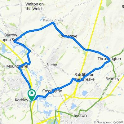 Hames Close, Leicester to 11 Hames Close, Leicester