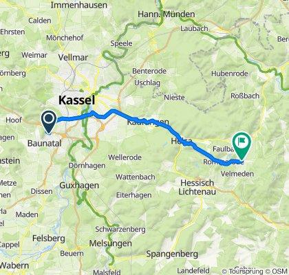 To David Lindenallee 14–18B, Baunatal to Oberer Meißnerblick 24, Großalmerode