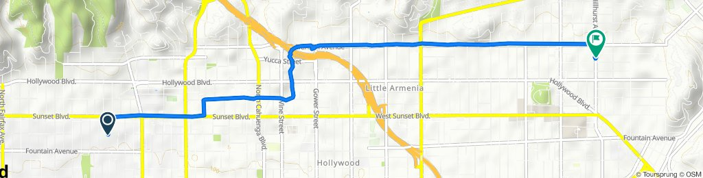 Slow ride in Los Angeles