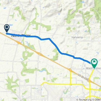 10883–11065 NW Gordon Rd, North Plains to 21171 NW Galice Ln, Portland