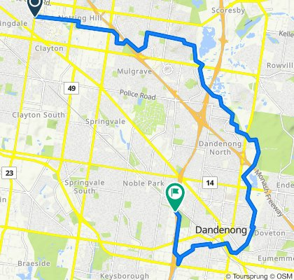 Oakleigh East to to Dandenong Ck