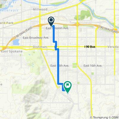 1711 N Herald Rd, Spokane Valley to 3922 S Bowdish Rd, Spokane Valley