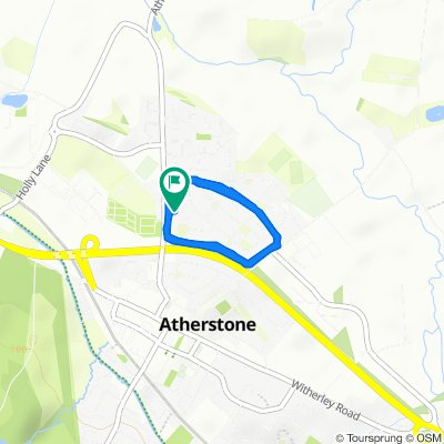 Slow ride in Atherstone