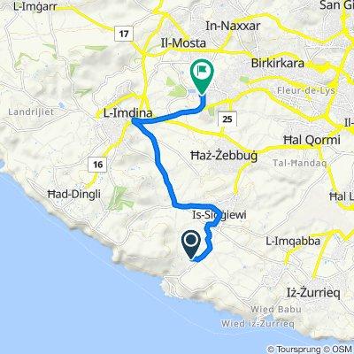Restful route in Attard