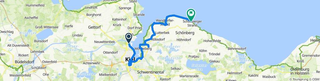 Hochgeschwindigkeitsroute in Schönberg in Holstein